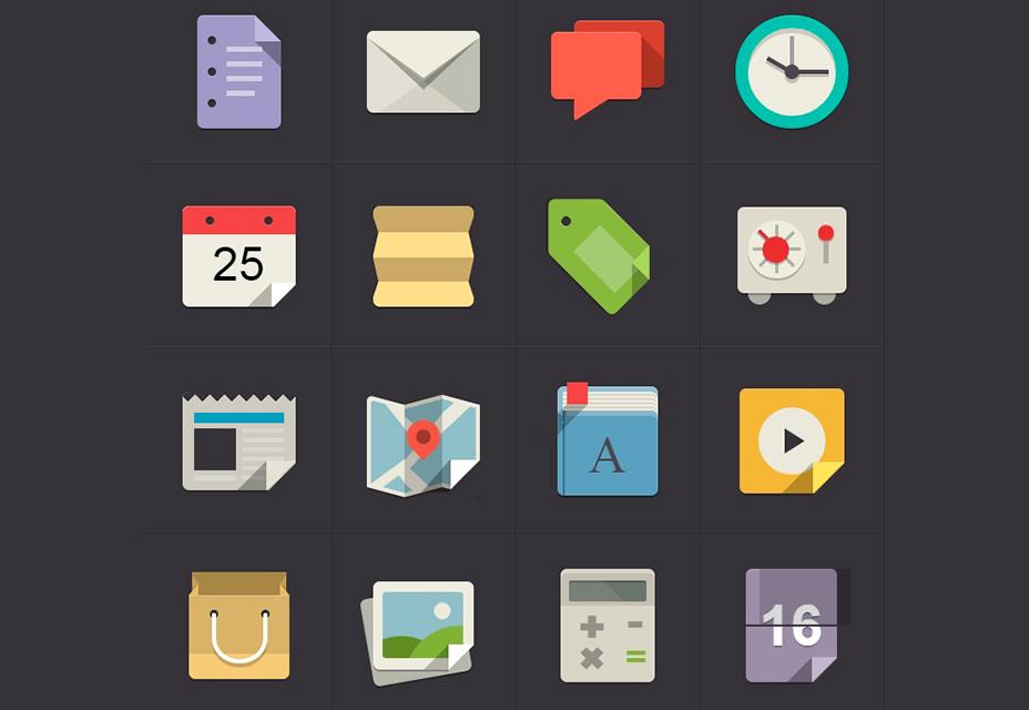 Iconos planos CSS3