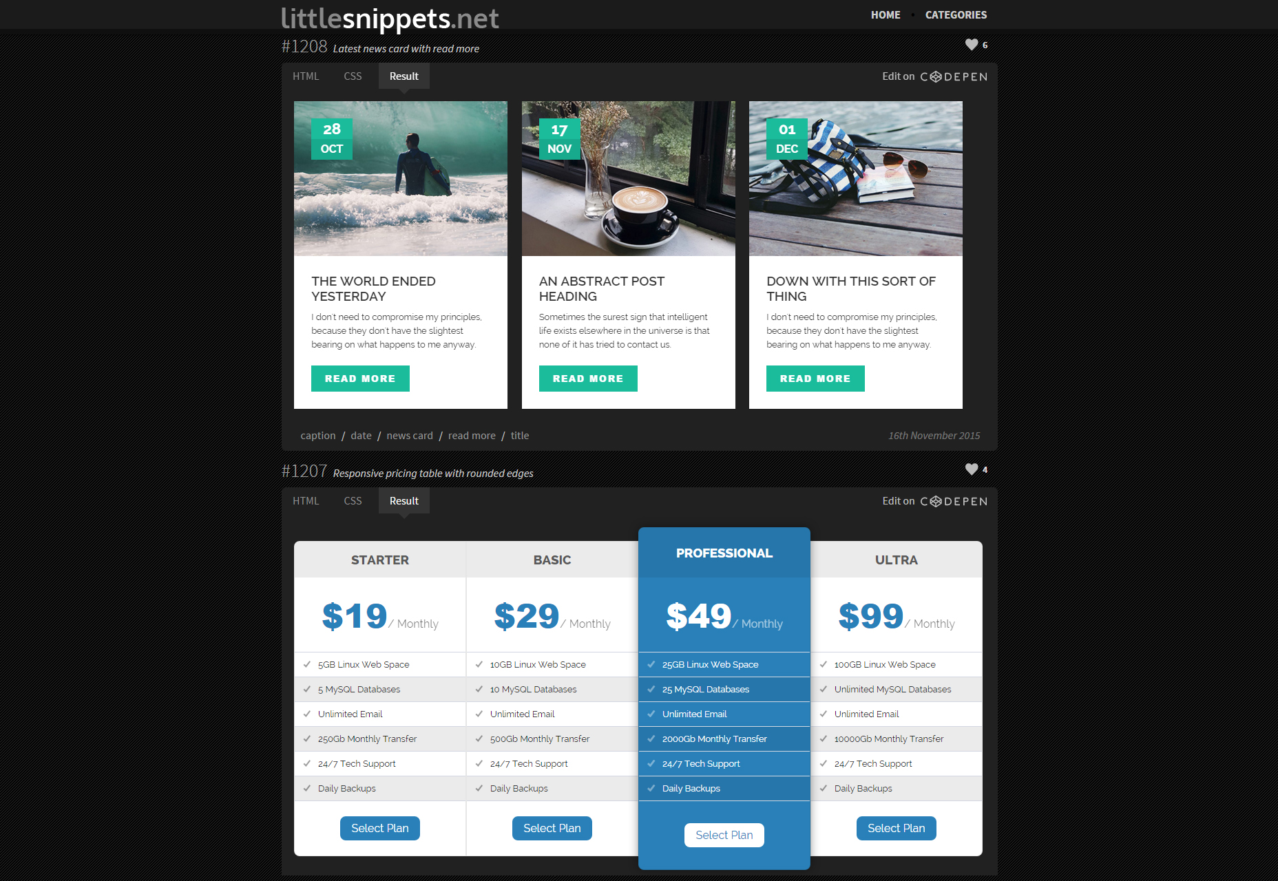 LittleSnippets: una colección gratuita de CSS3 / HTML Snippets.jpg