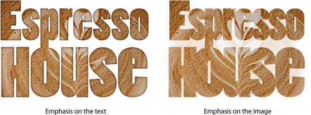 příklady důrazu na text vs. obrázek
