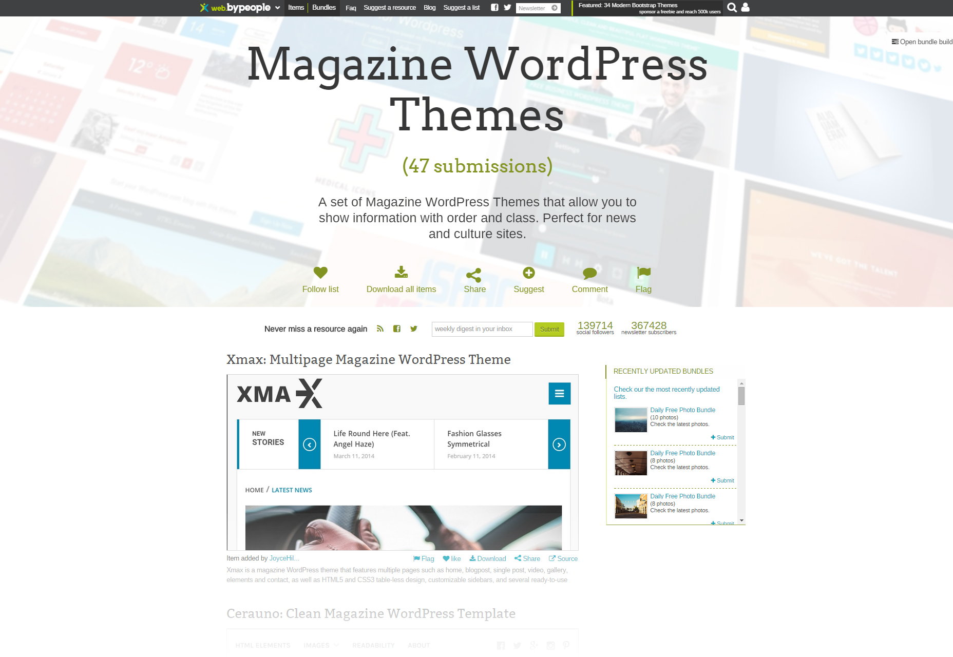 Revista Curated WordPress Themes Bundle