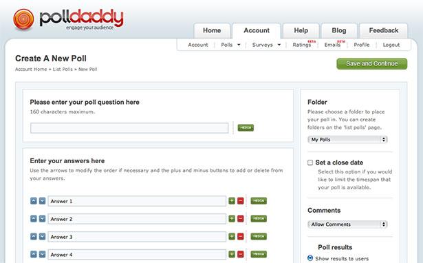 Interfaz de aplicación PollDaddy
