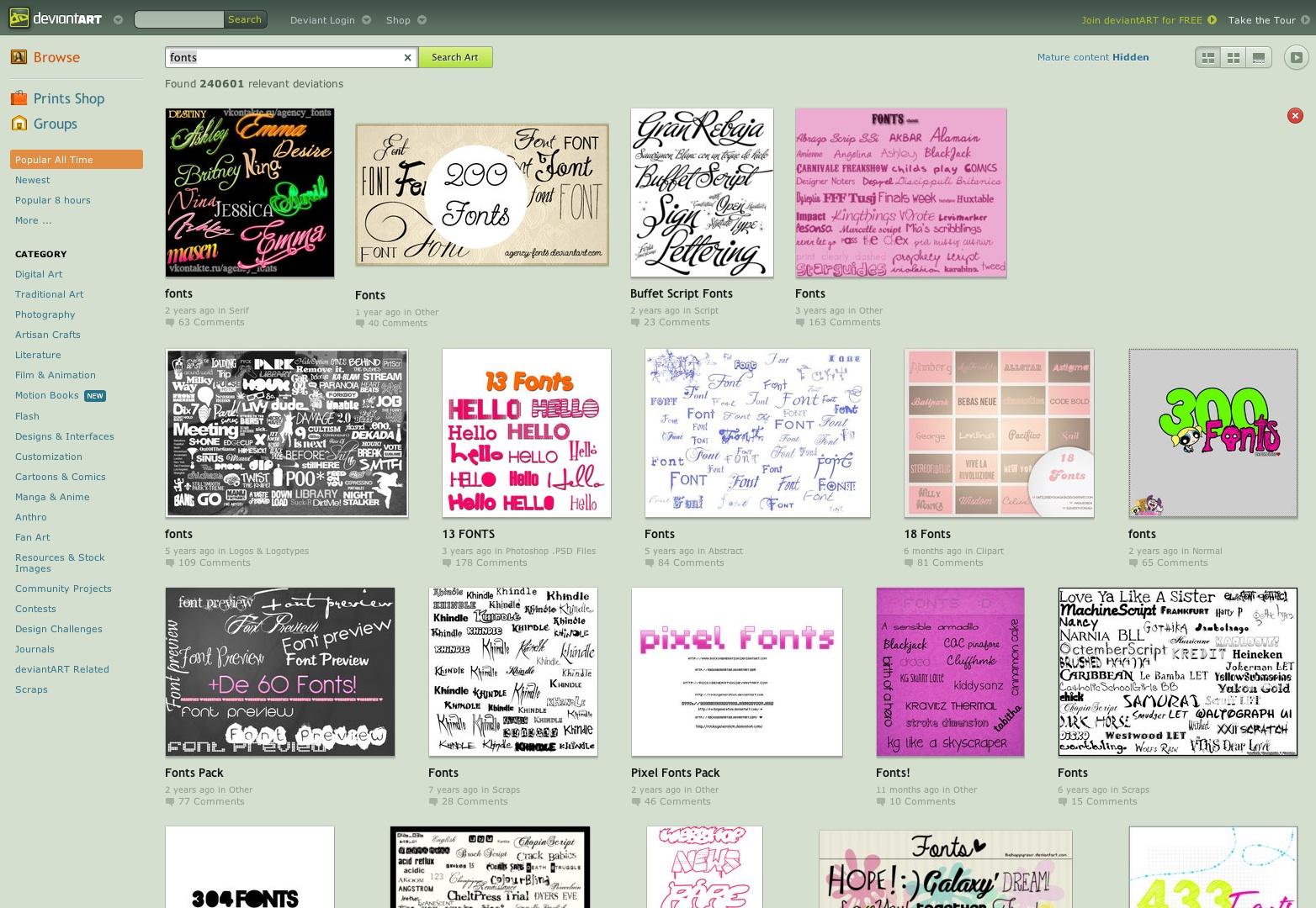 http --- browse.deviantart.com-? q = fonts (20130612)
