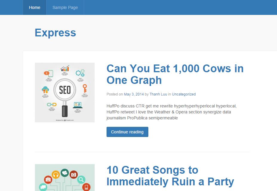 Express: Responsive Magazine WordPress Theme