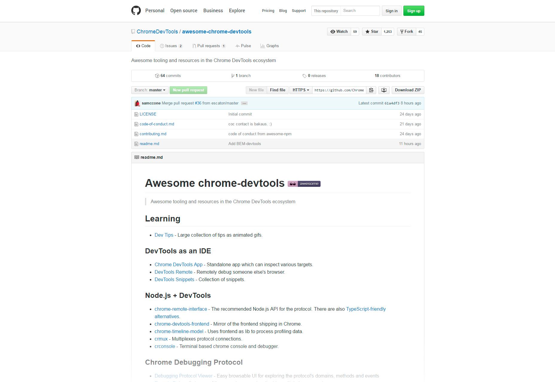 Awesome Herramientas y recursos de desarrollo de Chrome