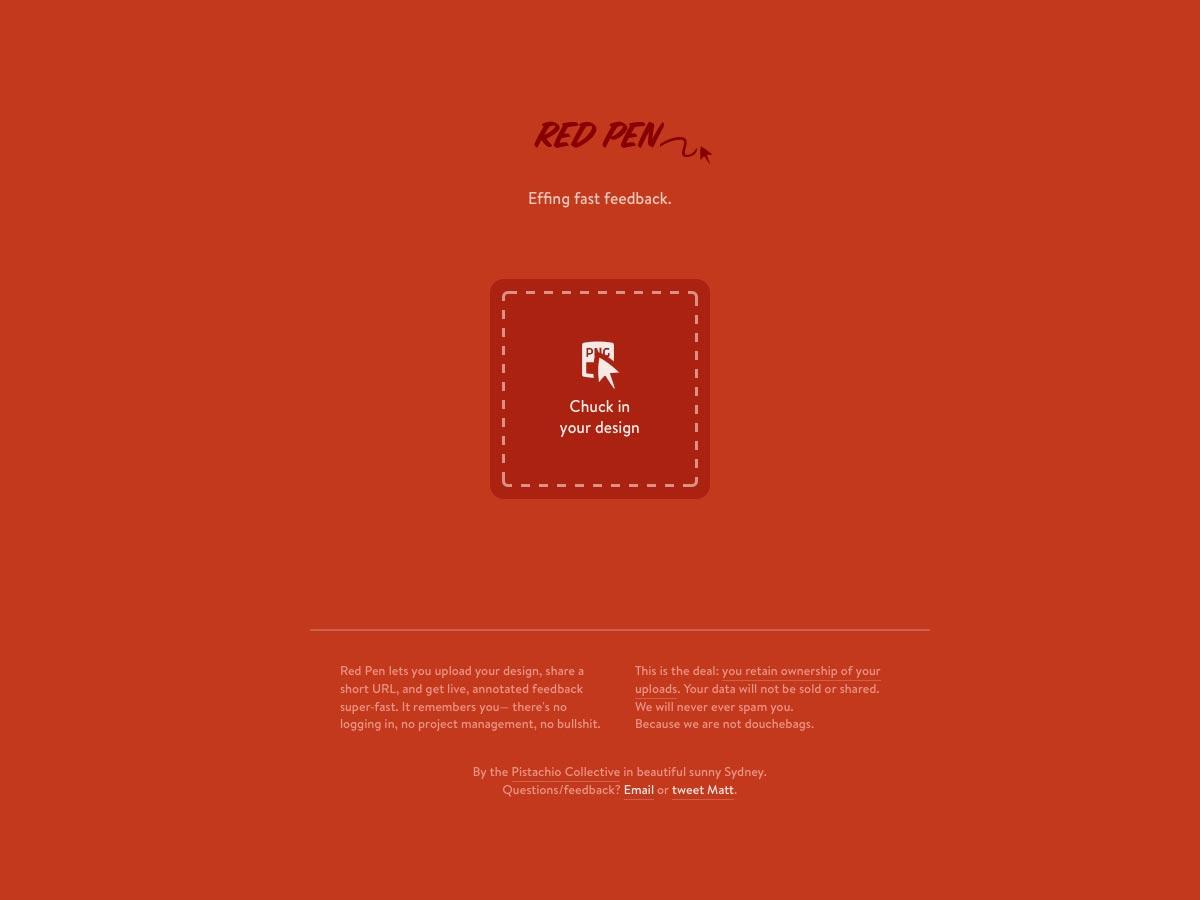 boligrafo rojo