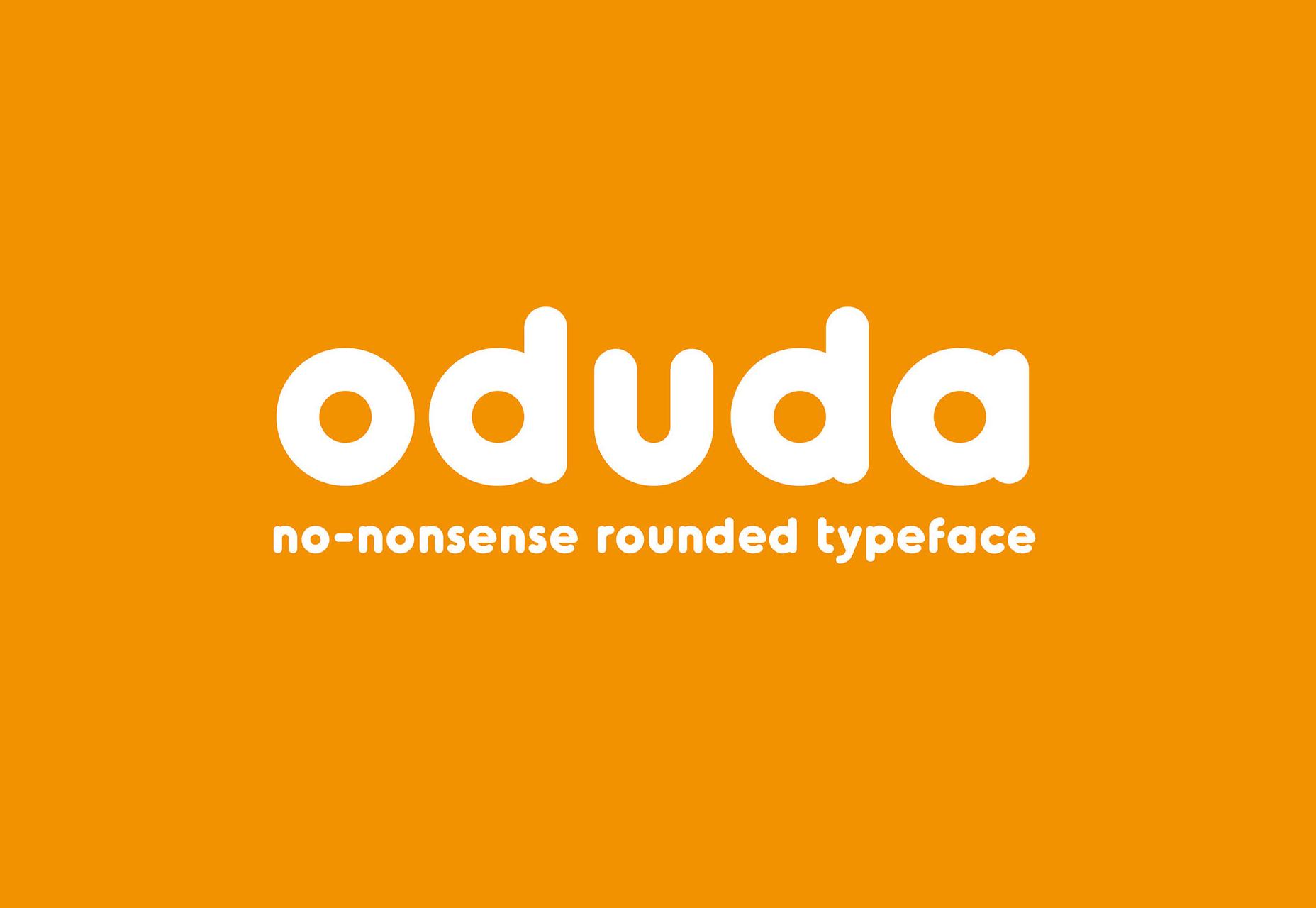 Oduda: tipografía en negrita redondeada