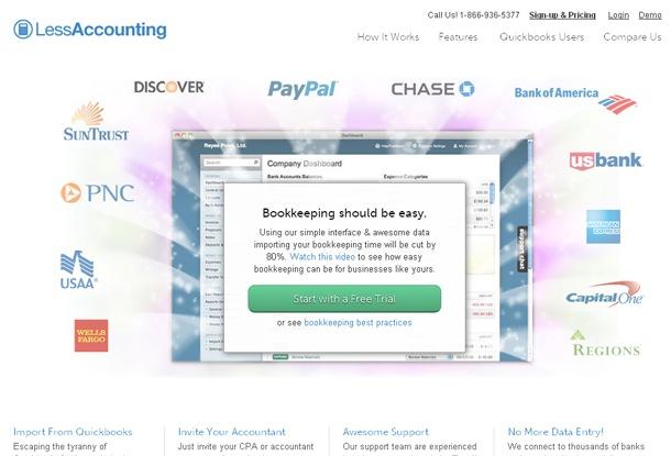 Página de inicio de menos contabilidad