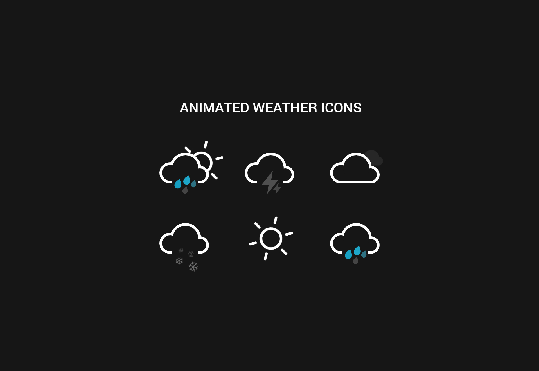 Animación Weather Icons CSS Snippet