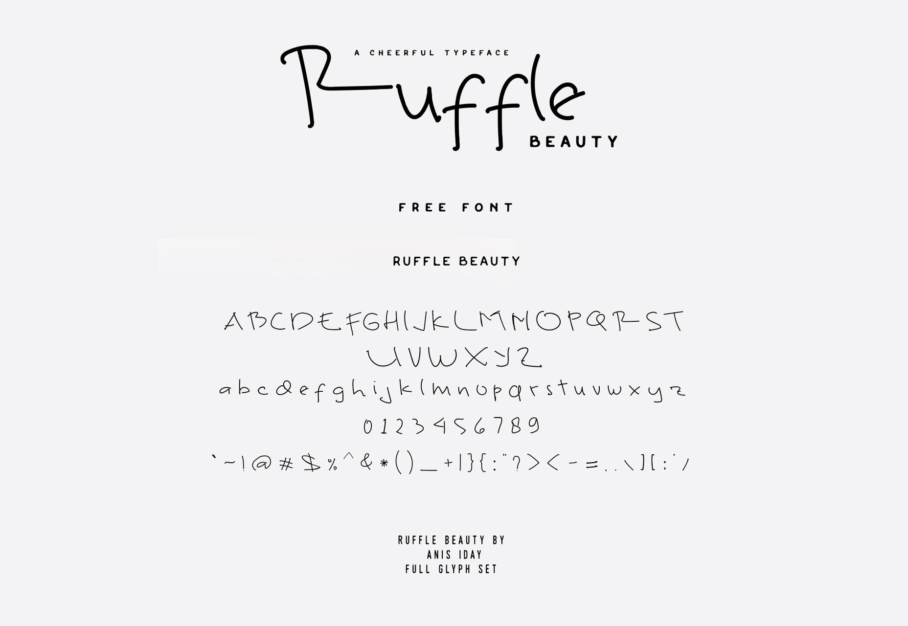 Ruffle: Thin Line Handwritten Fuente