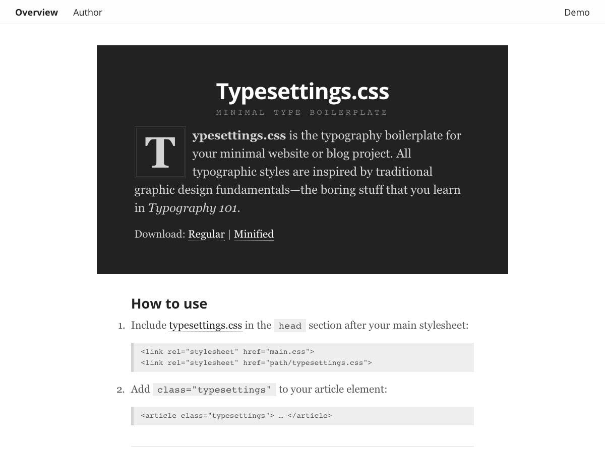 typesettings.css