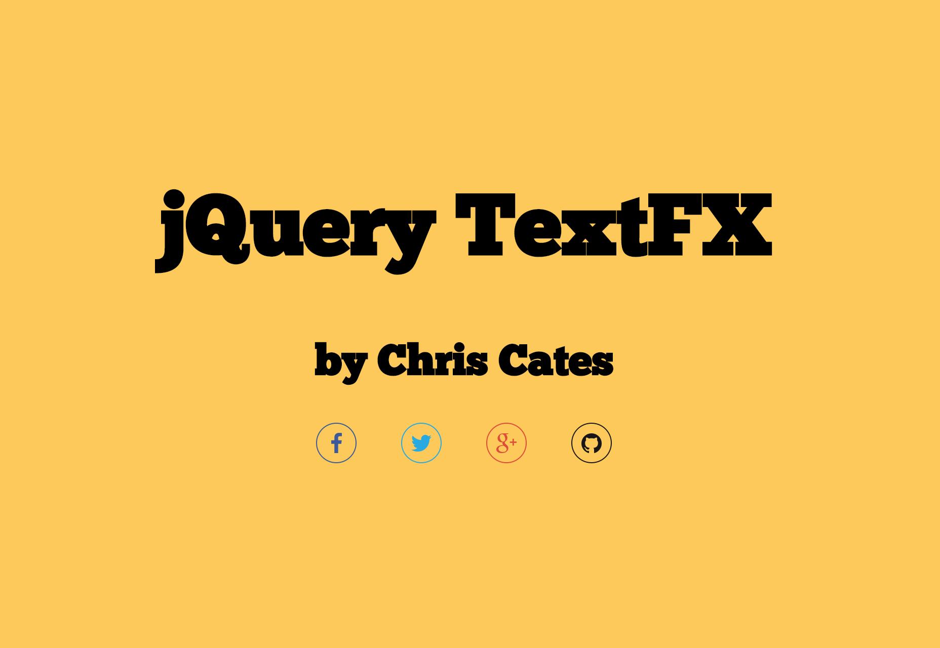 TextFX: plugin de efectos de texto JQuery