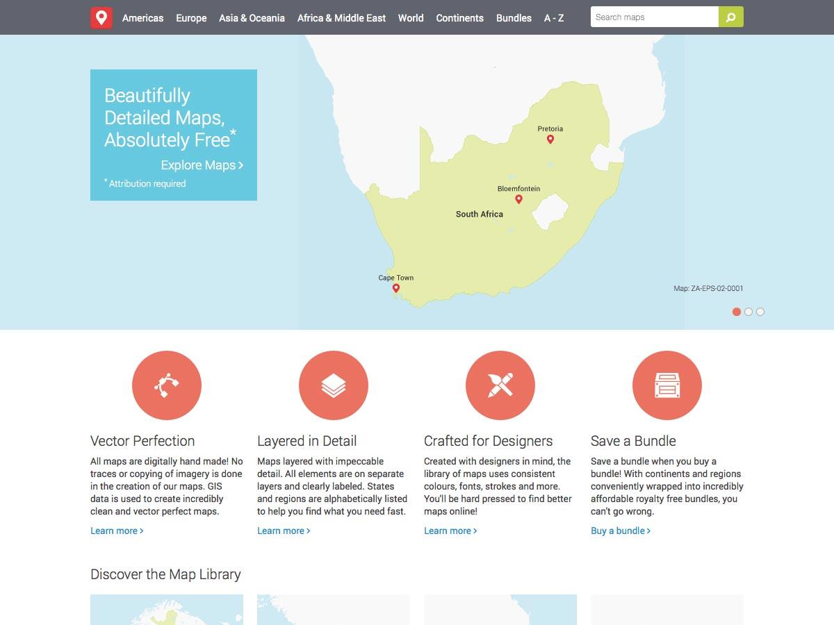 mapas de vectores gratis