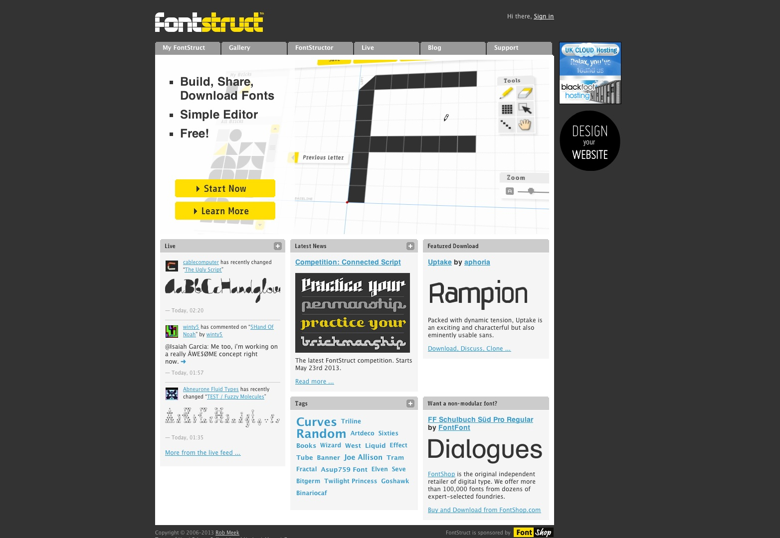 FontStruct | Construir, compartir, descargar fuentes
