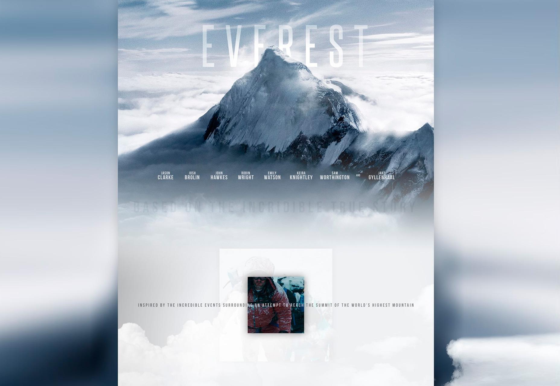 Everest: plantilla web PSD inspirada en la película
