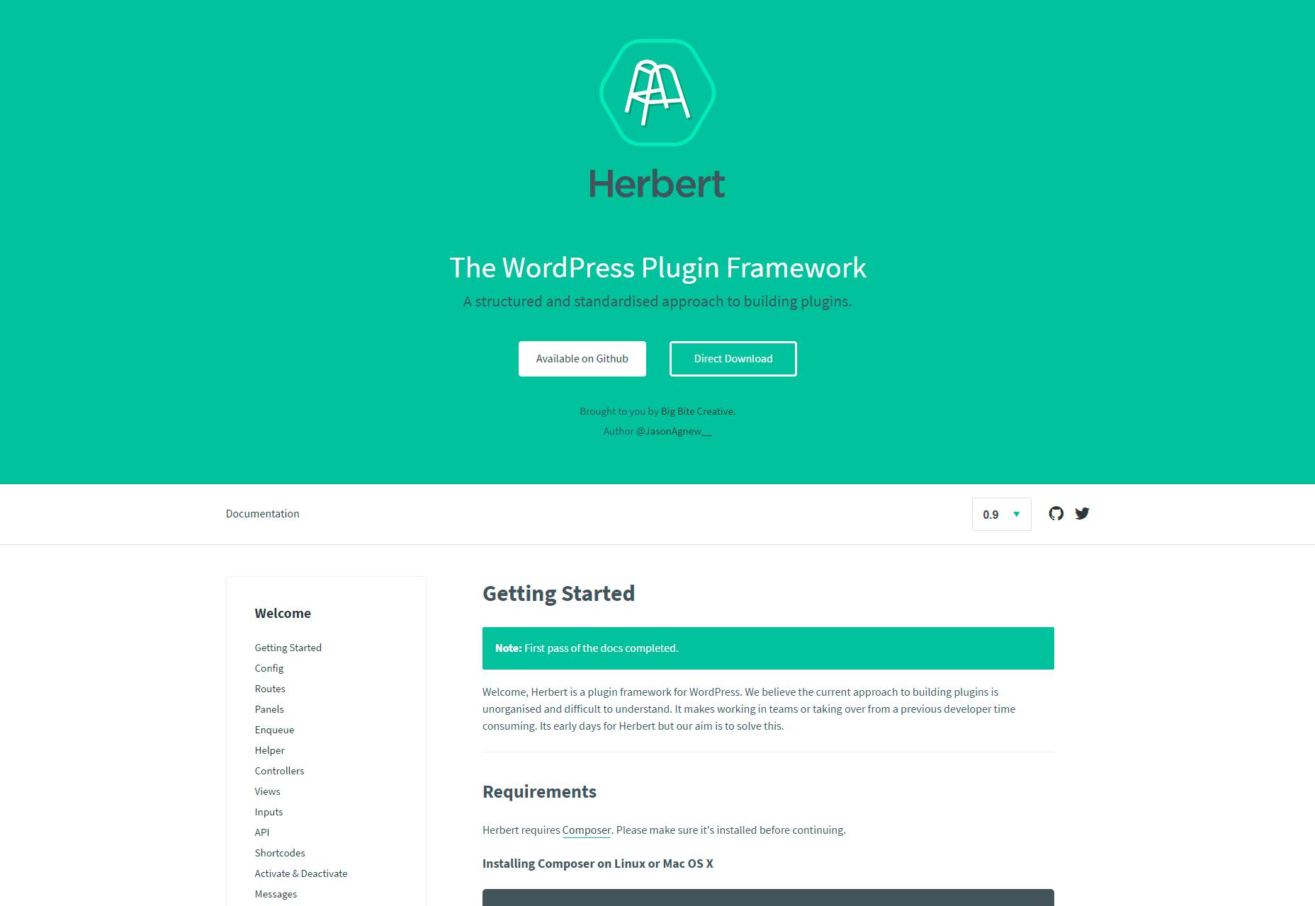 Herbert: Marco de plugin estructurado de WordPress