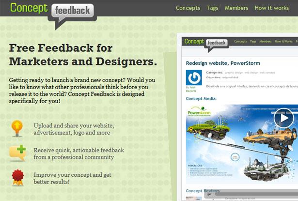 Comentarios conceptuales - Comunidad de revisión de sitios web
