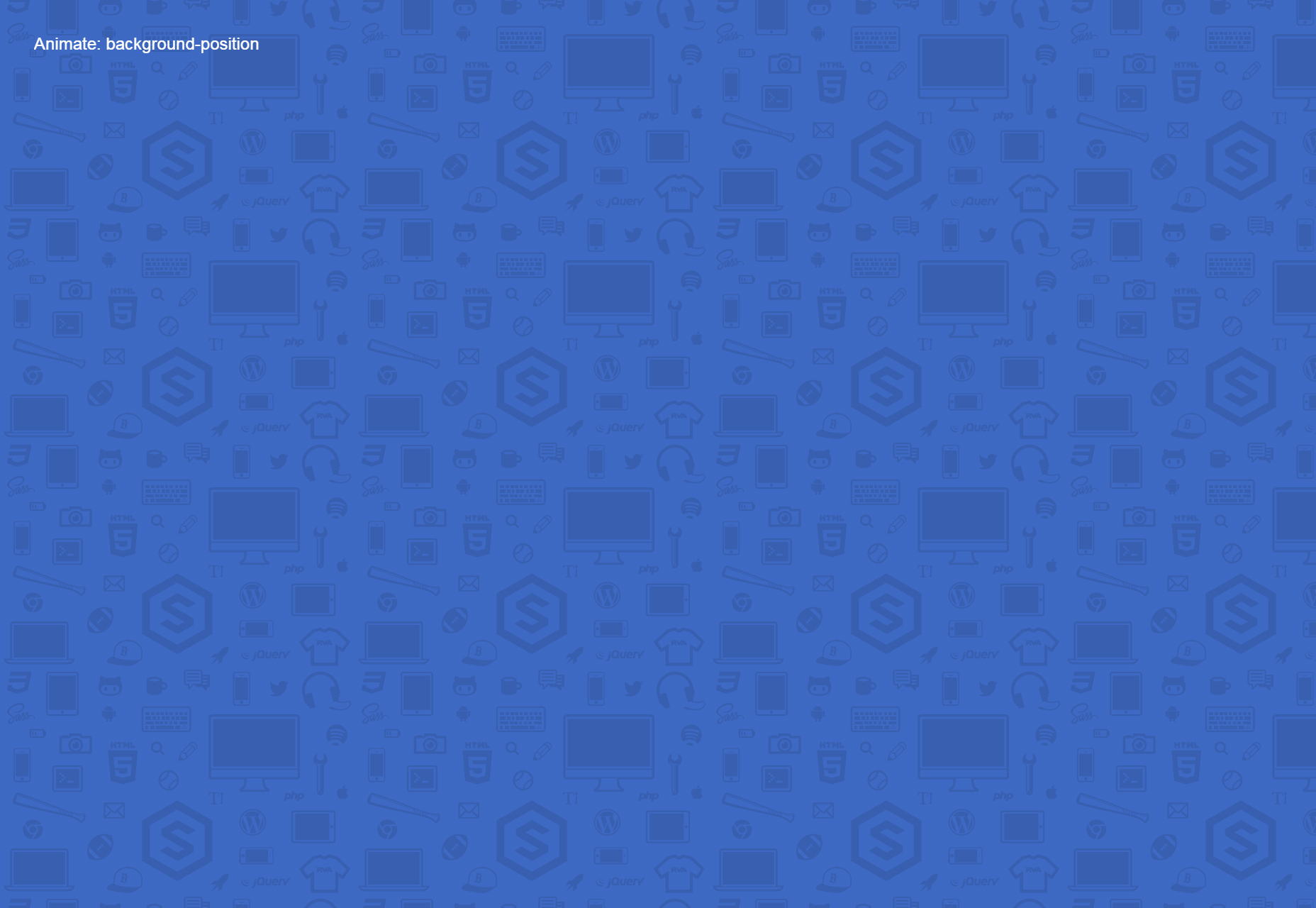 Infinite CSS Scrolling Background