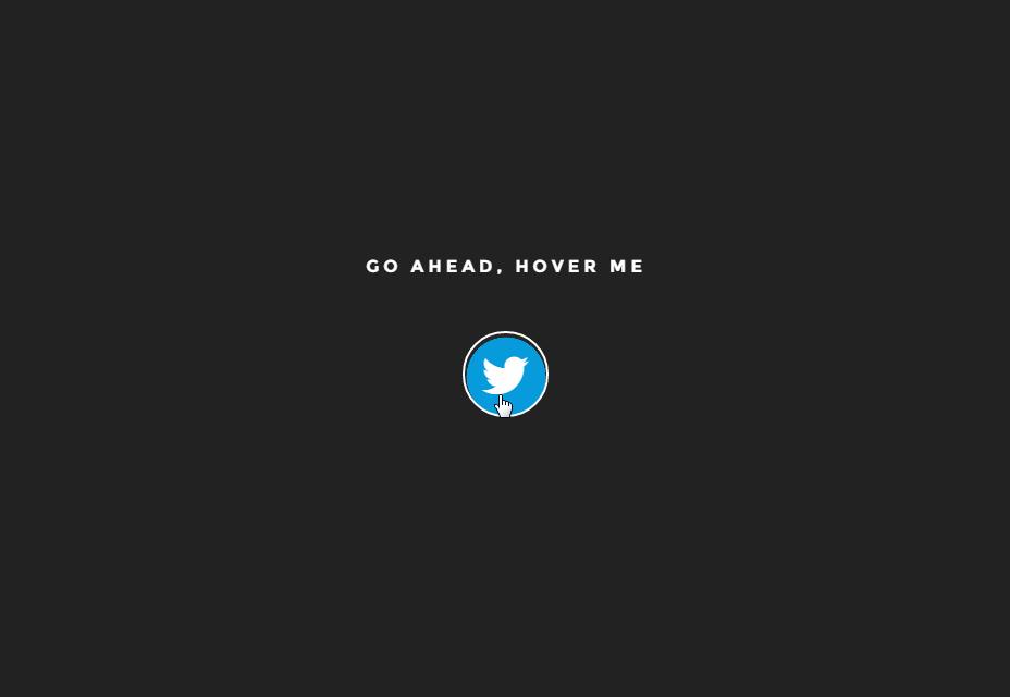 Botón de Twitter animado
