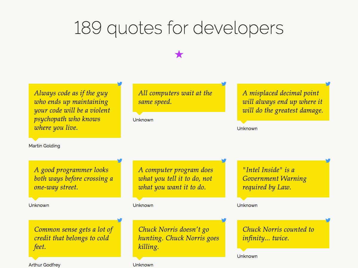 189 citas para desarrolladores