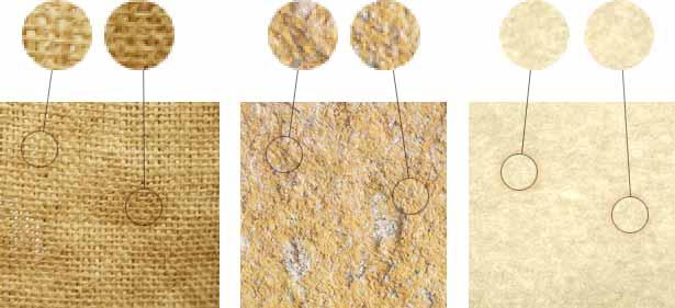 Diagrama que muestra características distintivas de tres texturas