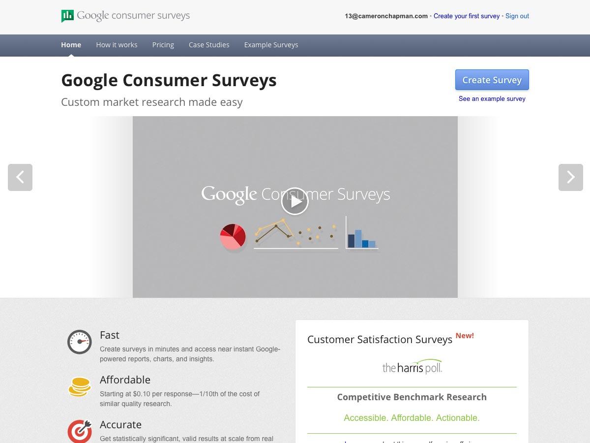 spotřebitelské průzkumy