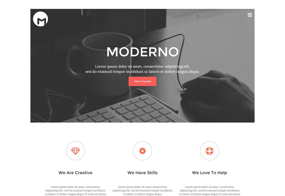 Moderno: gratis HTML5-responsieve sjabloon