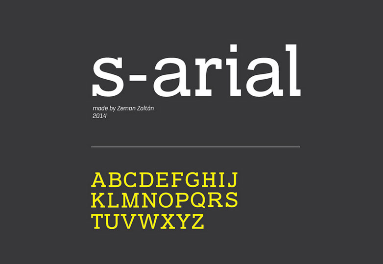 s-arial font