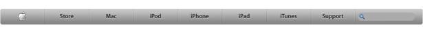 Antigua barra de navegación de Apple