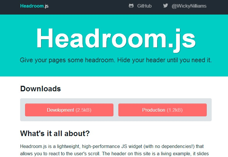 Headroom.JS