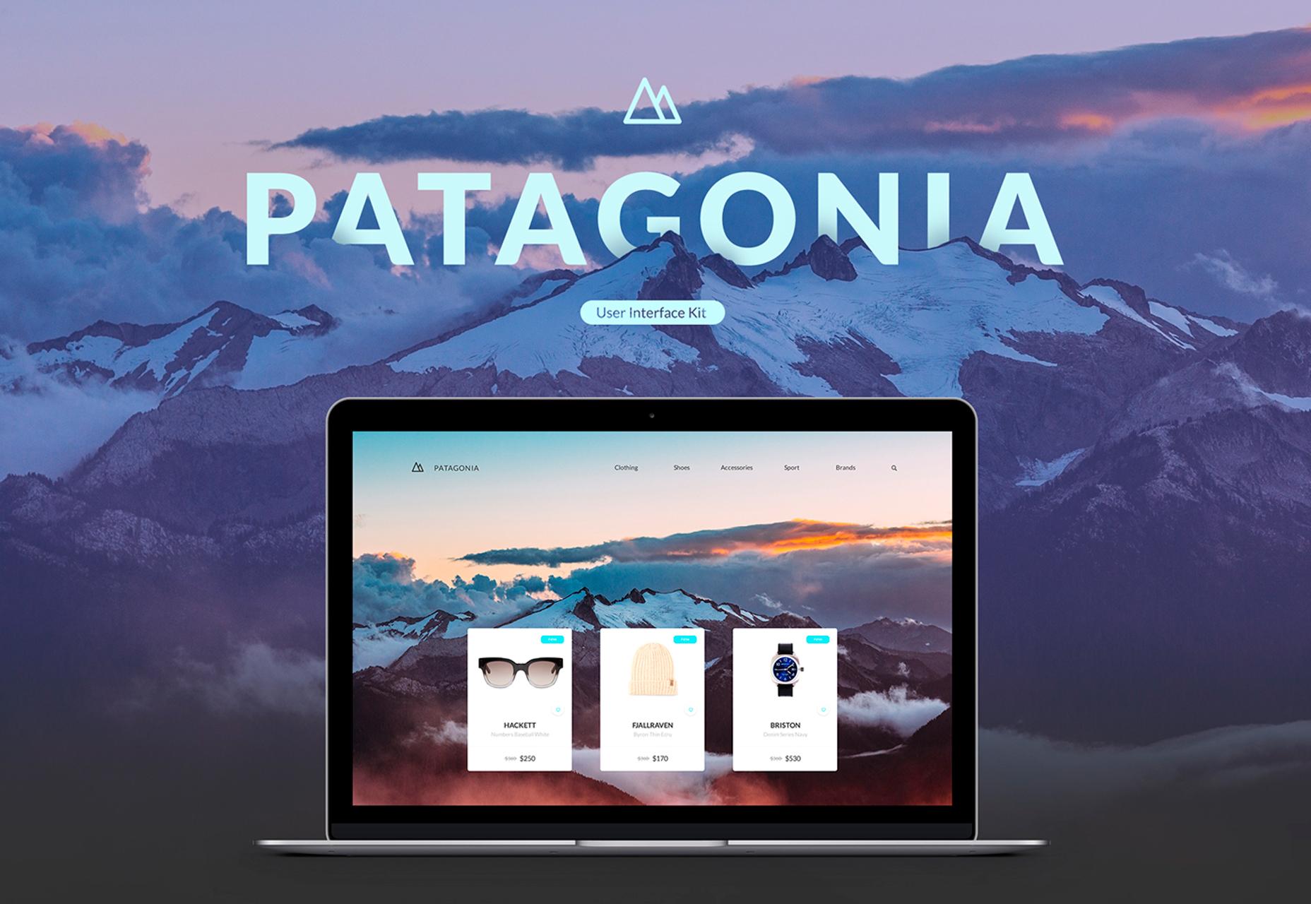 Patagonia: Nykyaikainen ECommerce-sivuston käyttöliittymä