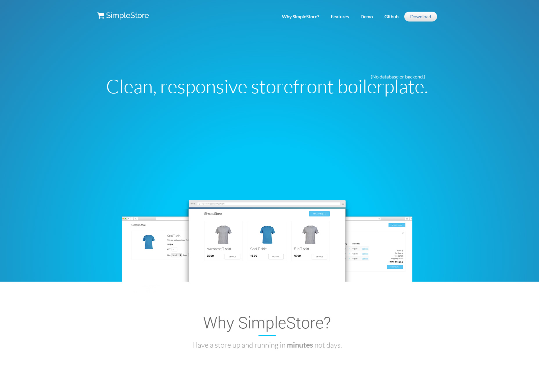 SimpleStore: limpio y sensible ECommerce repetitivo
