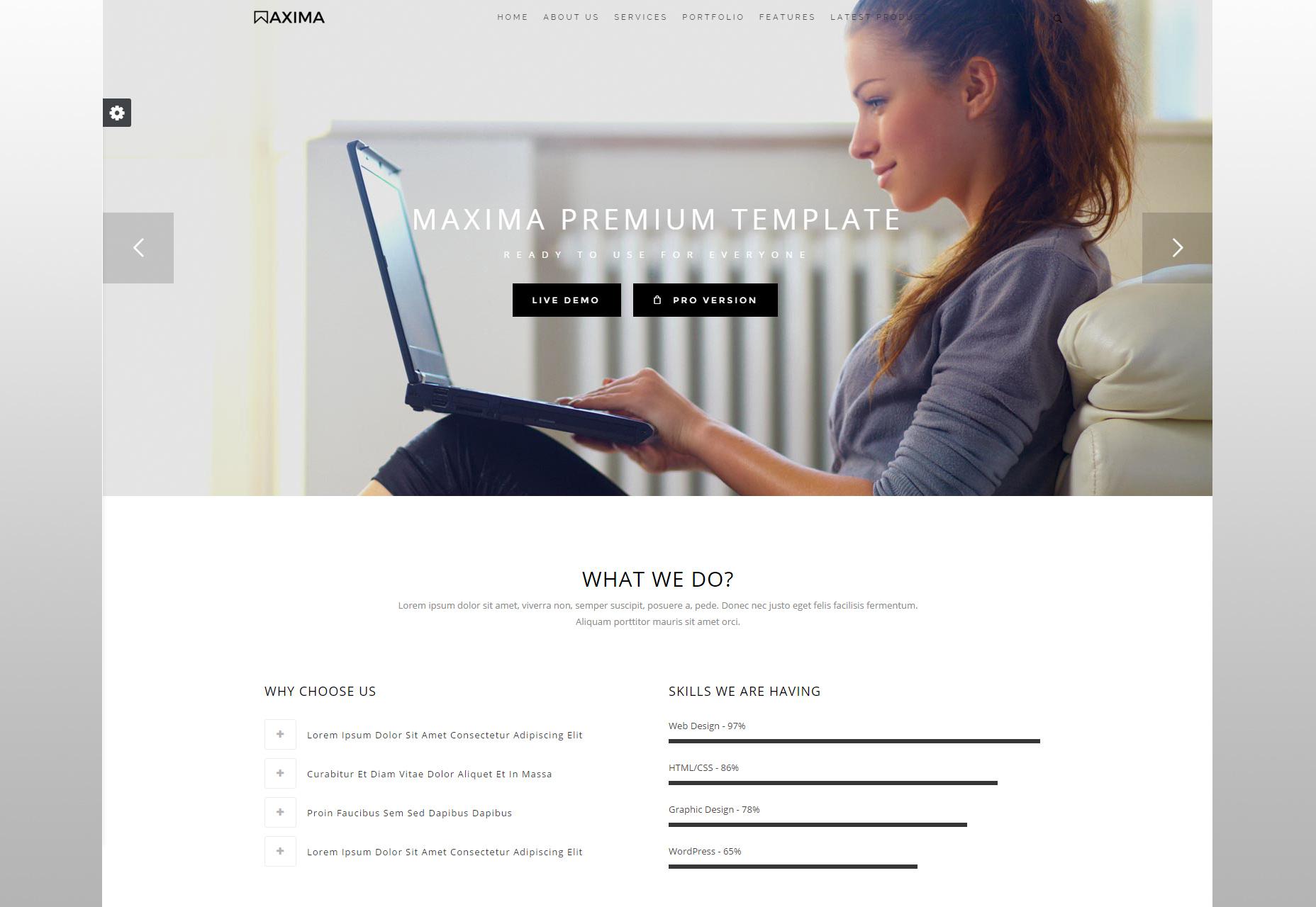 Maxima: Bootstrap-bedrijfssjabloon opschonen
