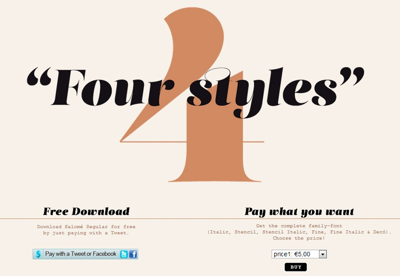 Salome Typeface