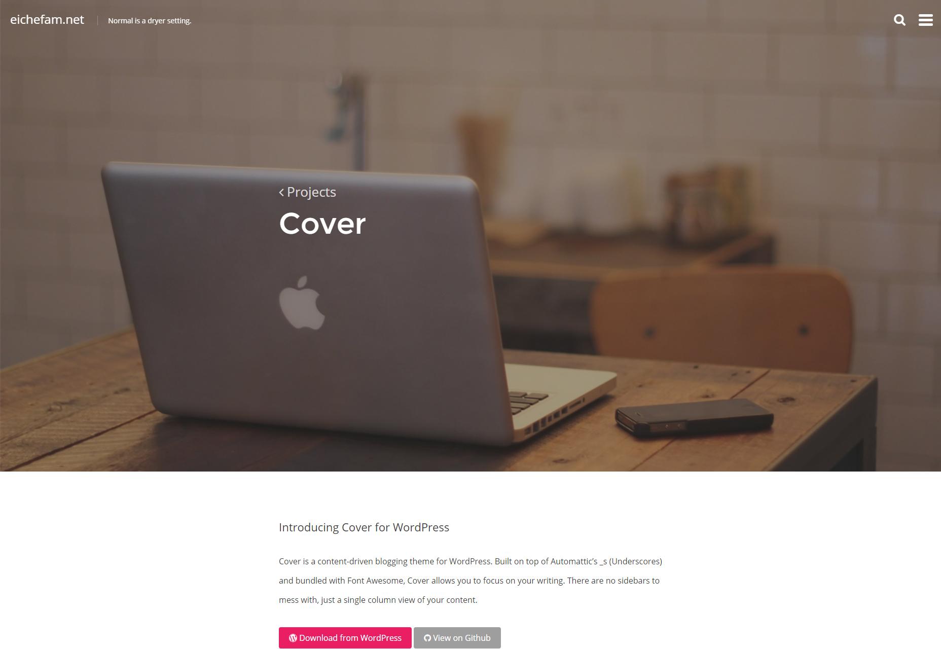 Cubierta: tema de WordPress mínimo de escritura libre