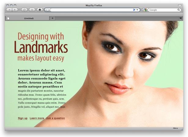 diseño de página con texto, foto y título