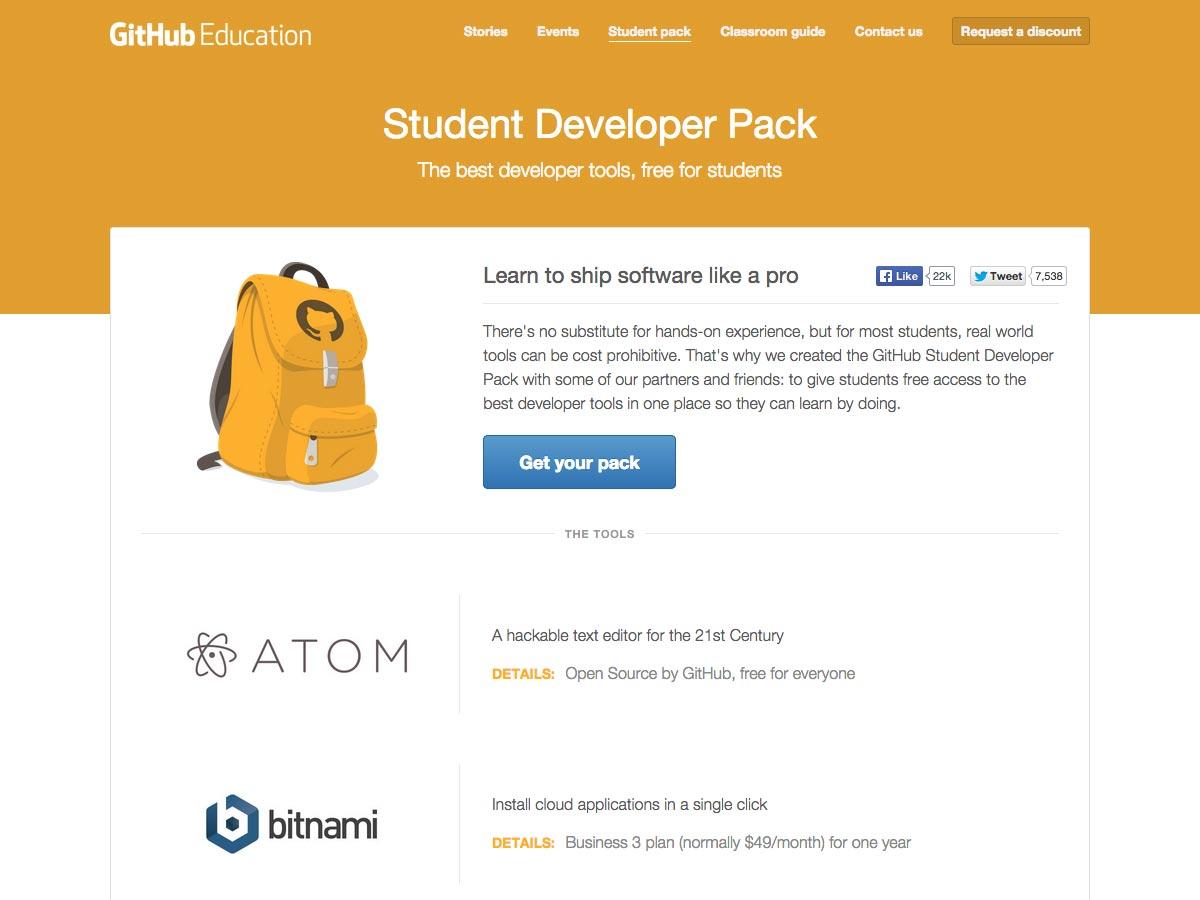 paquete de desarrollador estudiantil