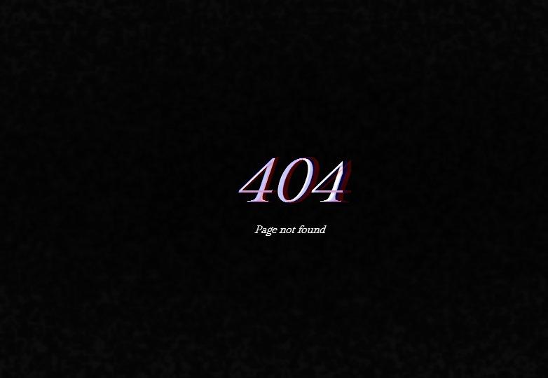 Glitchy 404 page