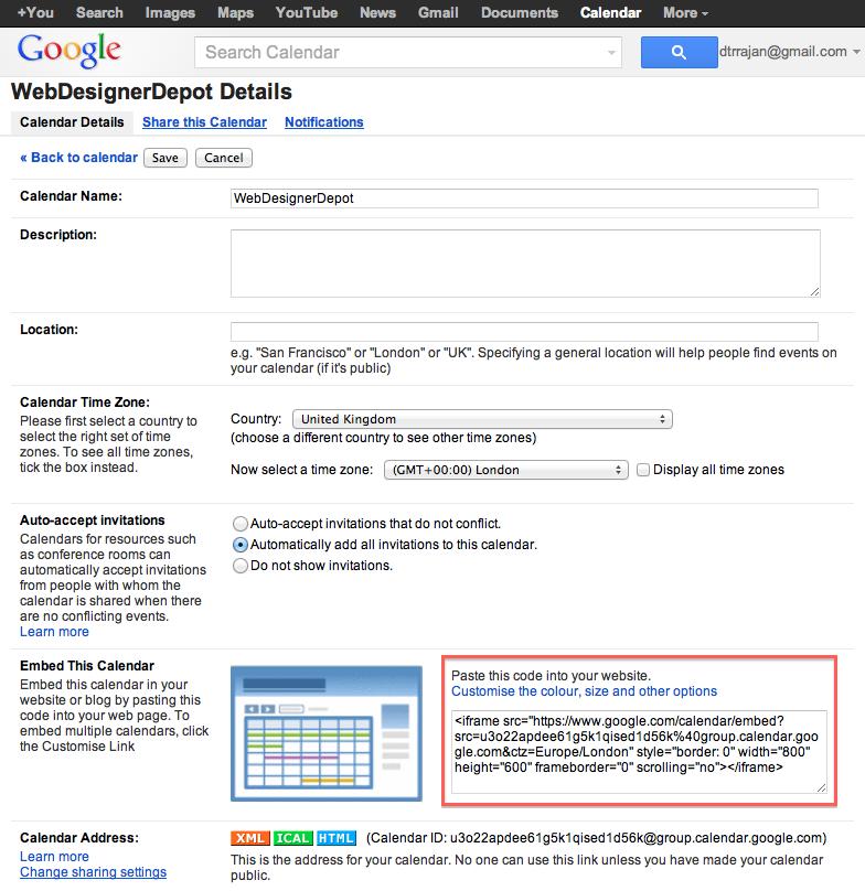 Integrando o Google Agenda ao seu site