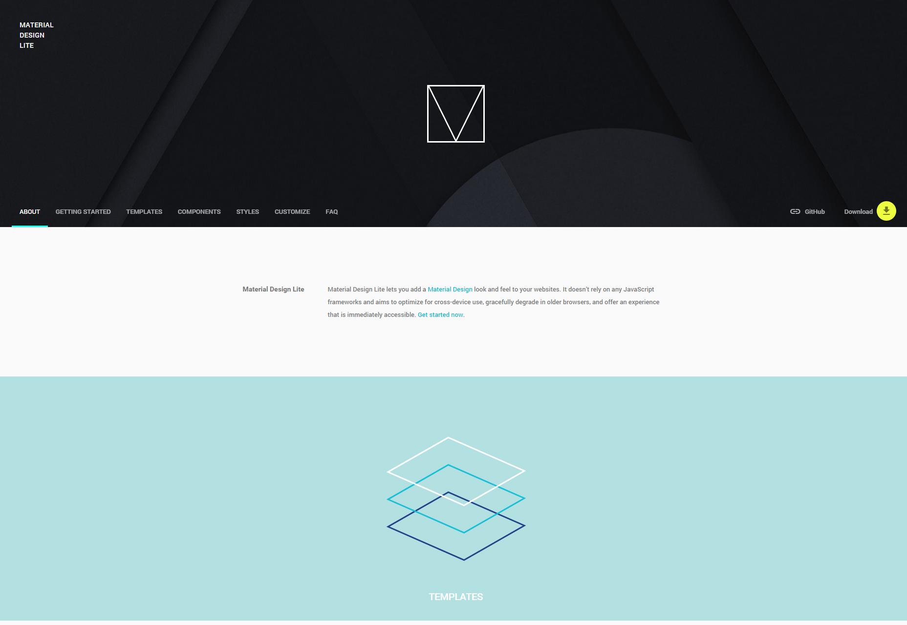 Biblioteca de componentes Web de Material Design Lite