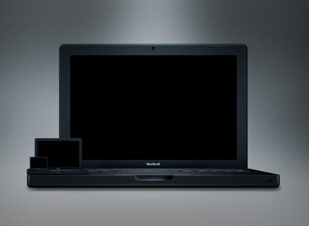 La MacBook en negro