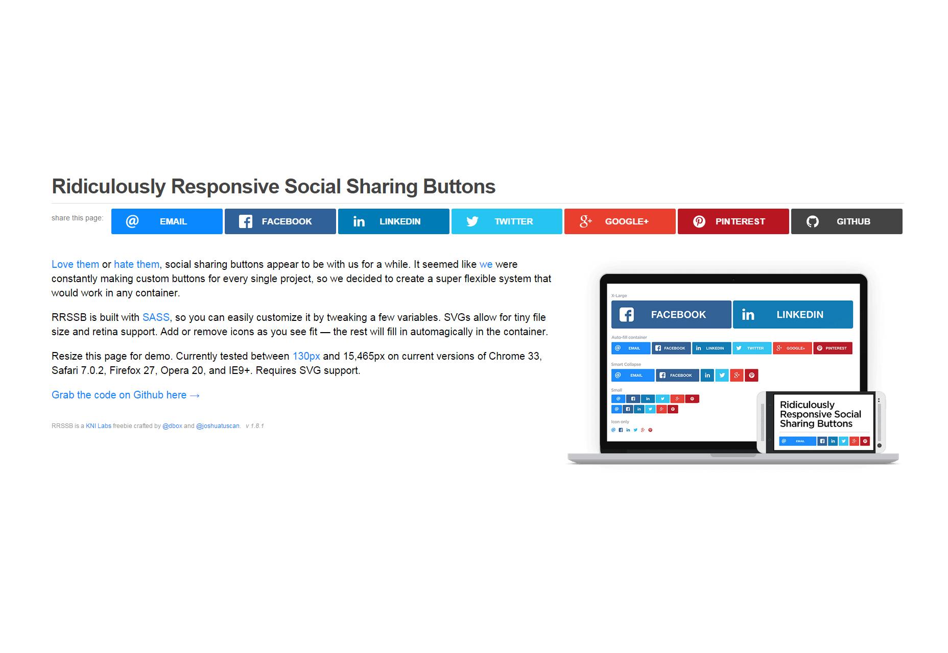 Ridículamente Responsive Social Sharing Buttons