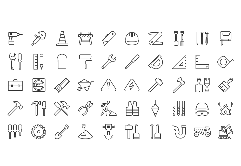 iOS 8 iconos de construcción