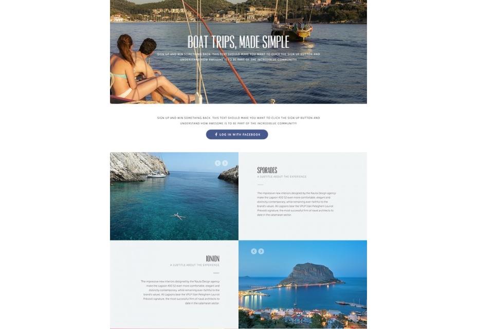 Página de aterrizaje del sitio web de viajes PSD