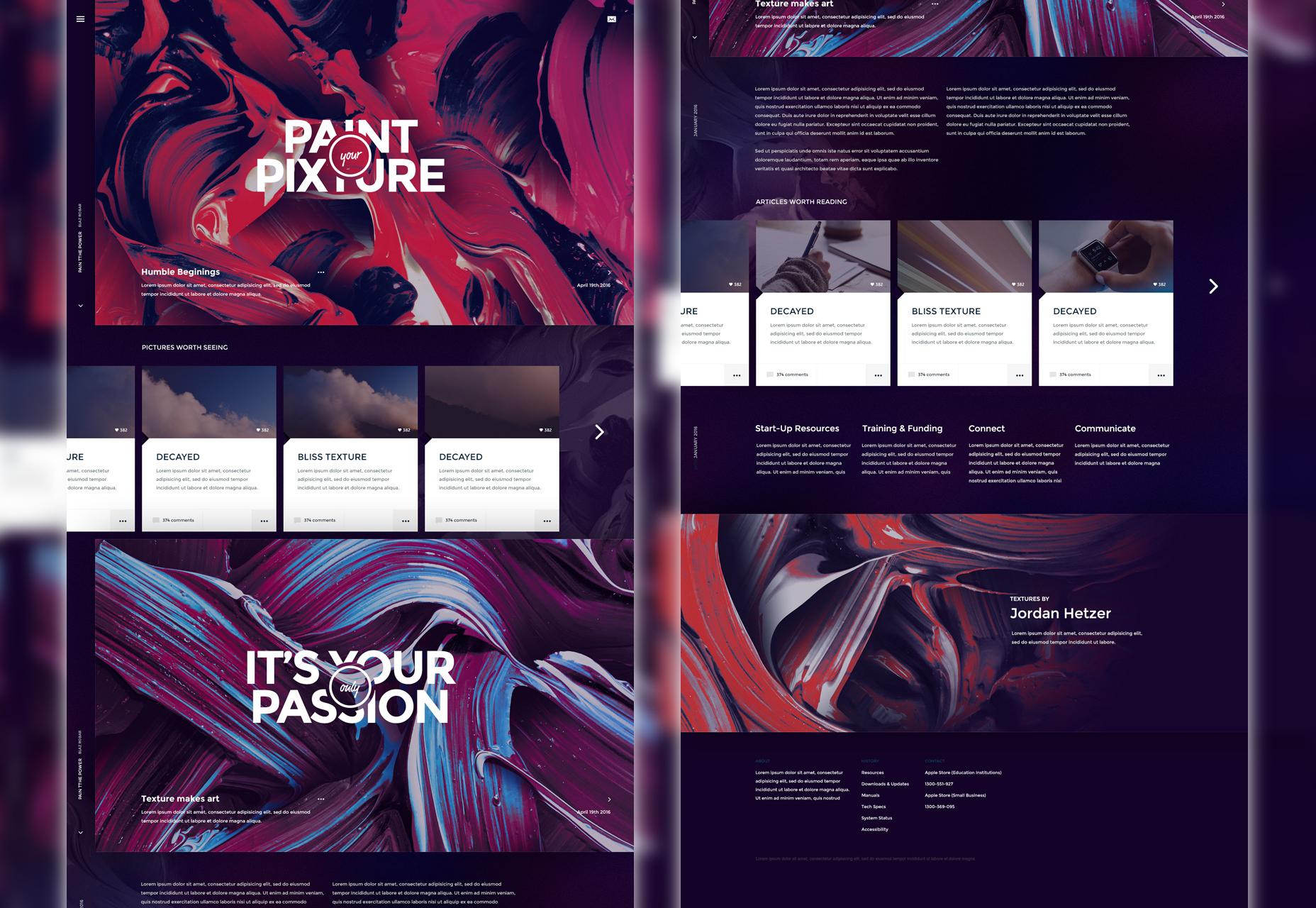 Mix: artistiek PSD-websitesjabloon