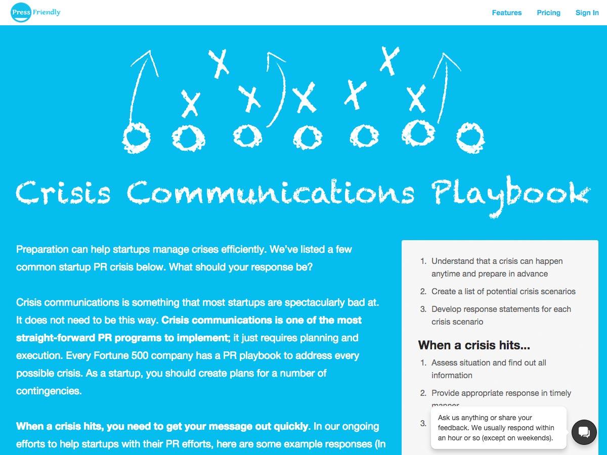 krizové komunikační playbook