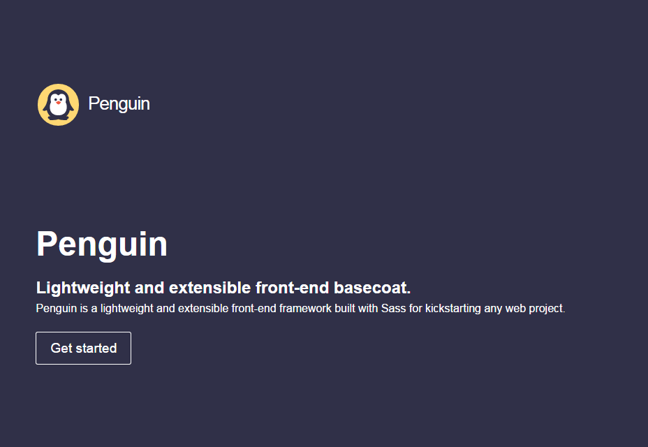 Penguin: Open Source Front-end Framework