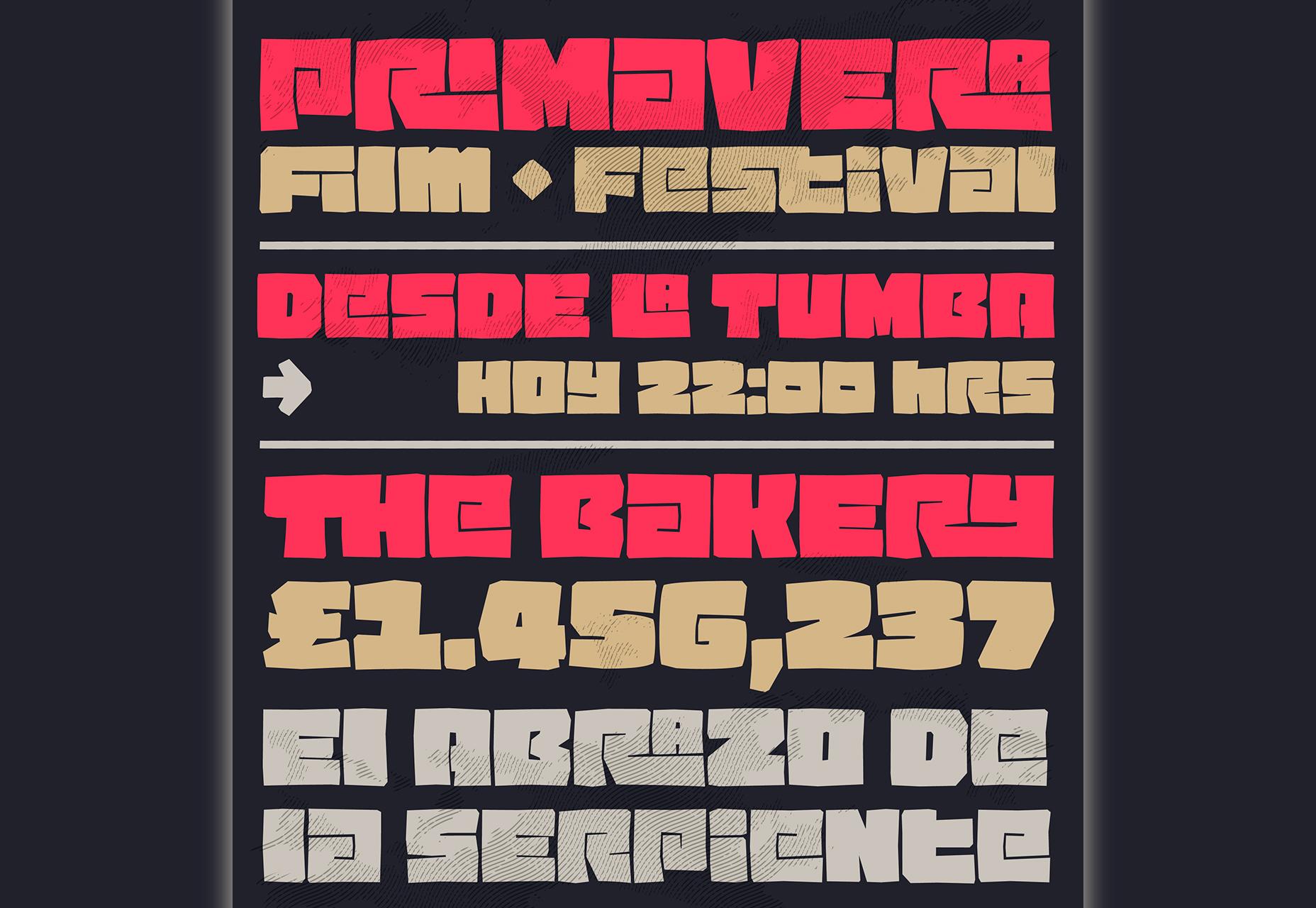 Pacha: Tlusté - dohromady Display Typeface