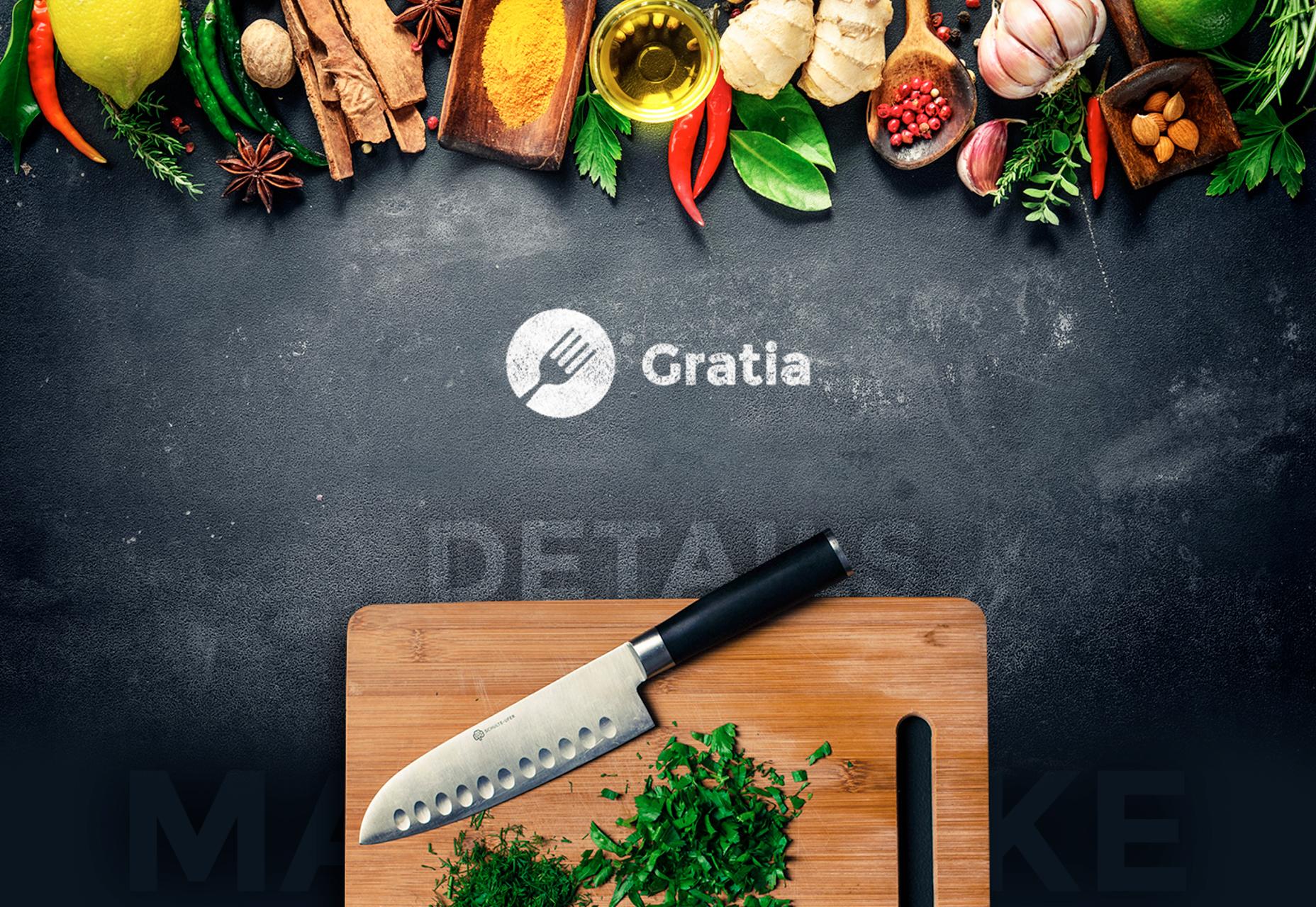 Gratia: kauniisti muotoiltu ravintola PSD-malline