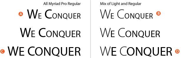 combinaciones de miríadas regular y ligera pro