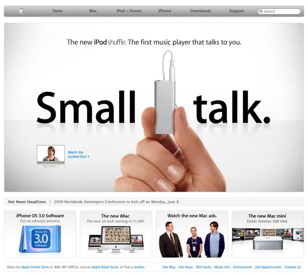 Página de inicio de Apple